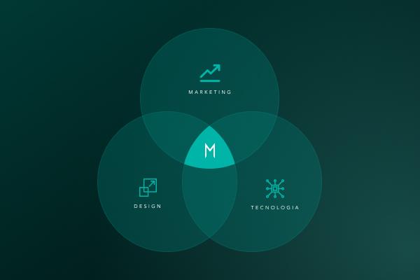 A importância do alinhamento entre as equipes de marketing, tecnologia e design.