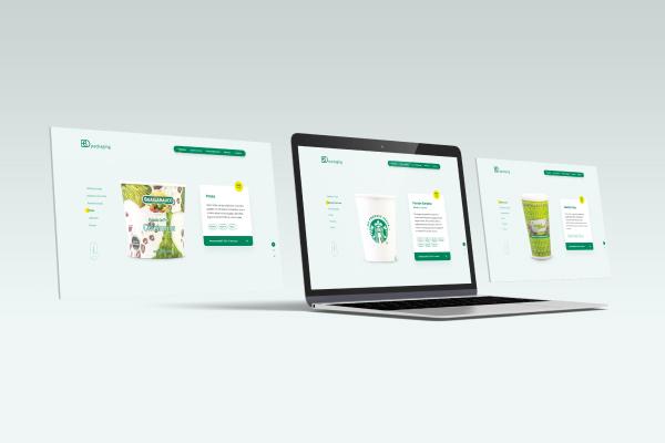Apresentação de produtos no novo site da BO Packaging